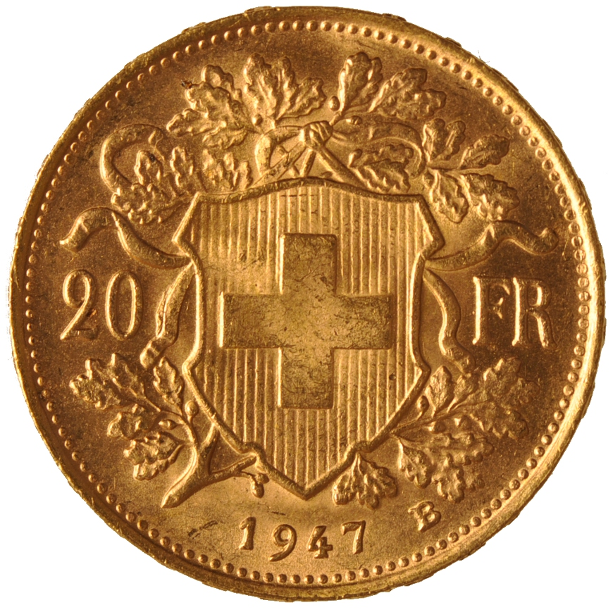 The 20 Franc Swiss Gold Coin With Free Insured Delivery