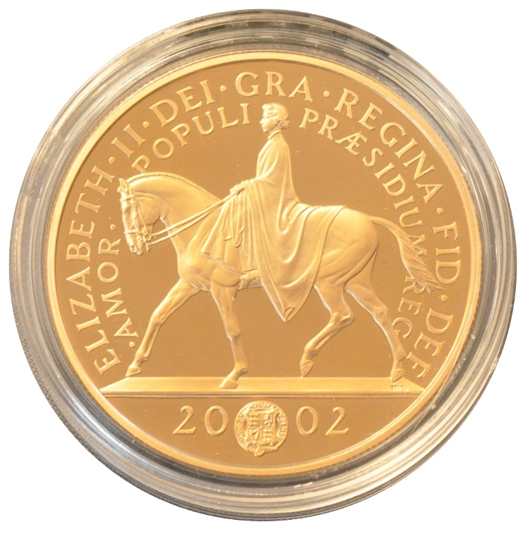 2002 Gold Five Pound Proof Coin Golden Jubilee 163 1 210