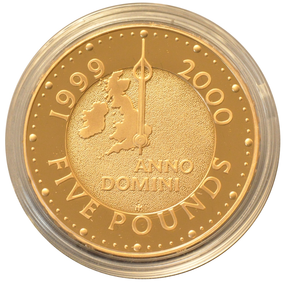 2000 Gold Five Pound Proof Coin With 50 Note