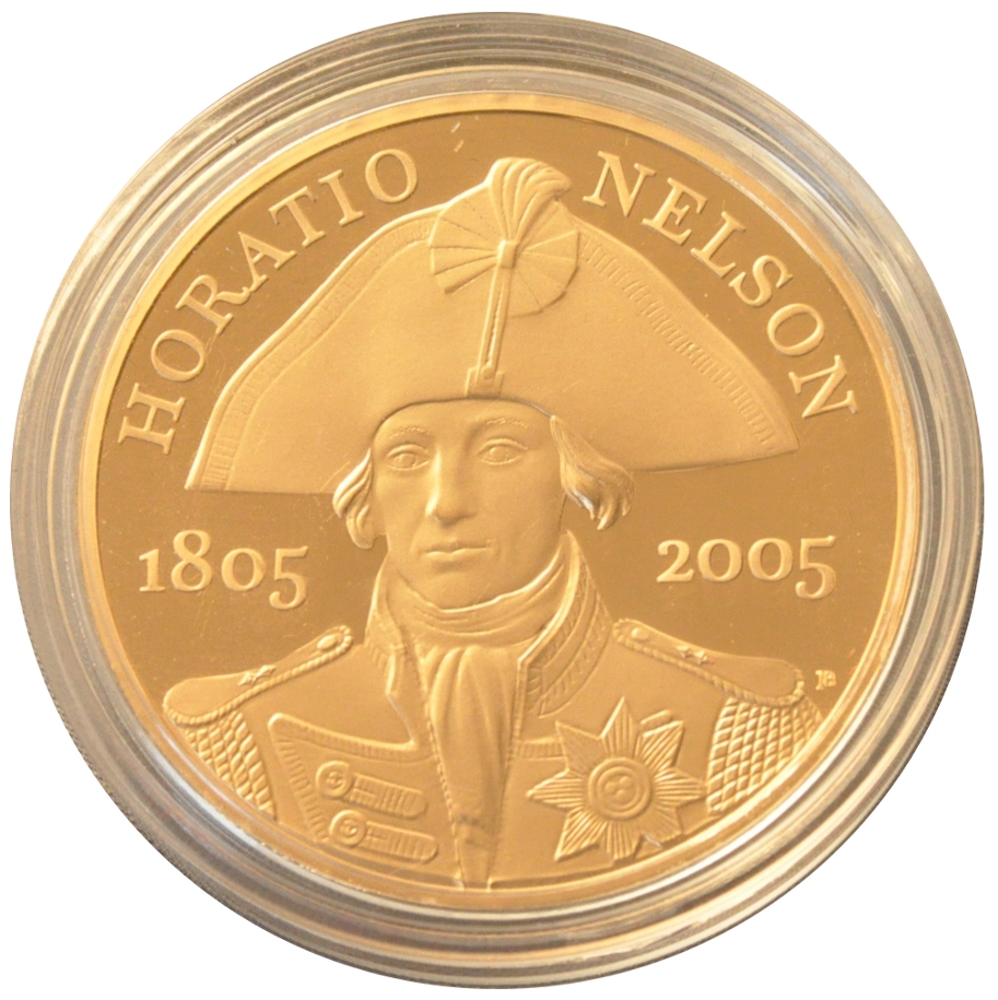 2005 Gold Five Pound Proof Coin Horatio Nelson 163 1 282