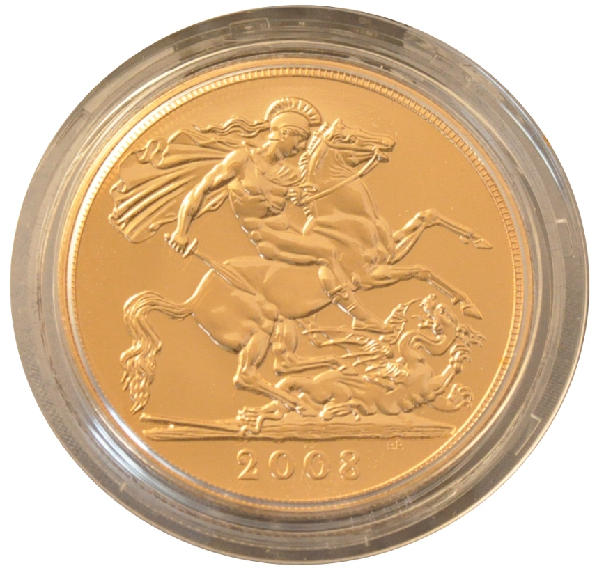 2008 Gold Five Pound Coin Brilliant Uncirculated 1 497