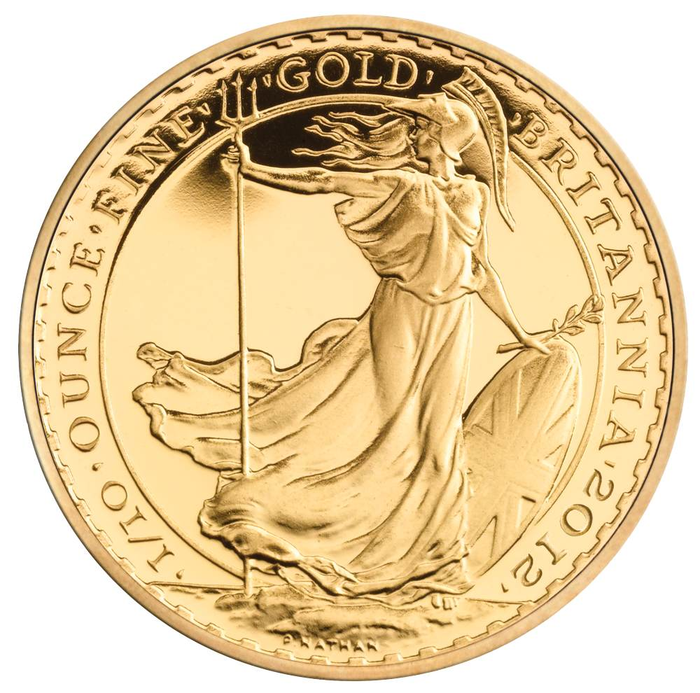 2012 Tenth Ounce Britannia Gold Coins