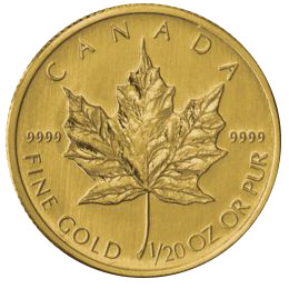 Twentieth Ounce Gold Canadian Maple