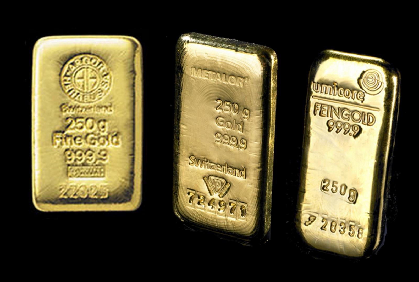 250g Gold Bars Best Value Bullionbypost From 163 6 425