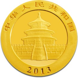 2013 1oz Gold Chinese Panda Coin