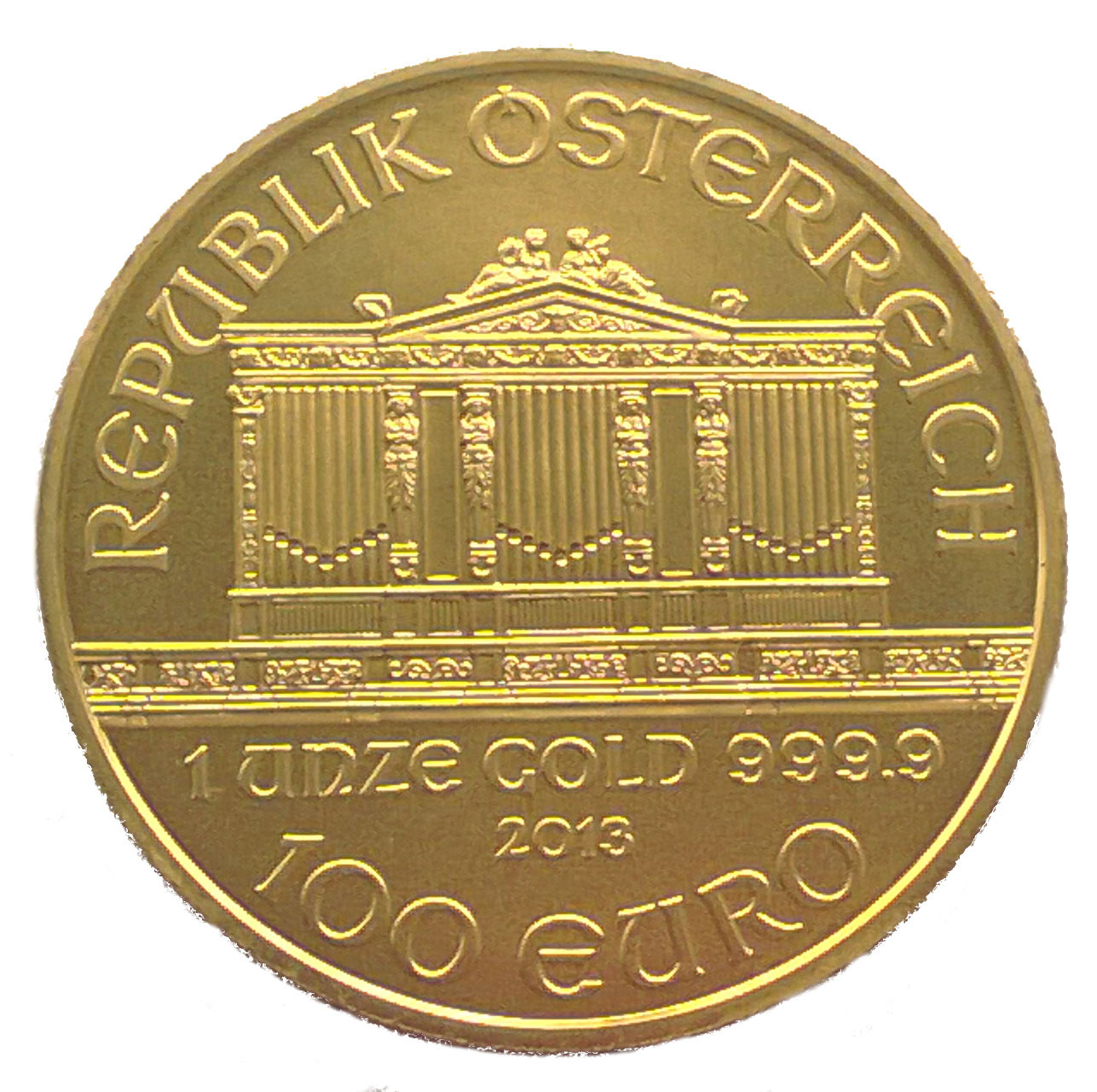 Buy 1oz Philharmonic Gold Coins Bullionbypost 174 From 163 848