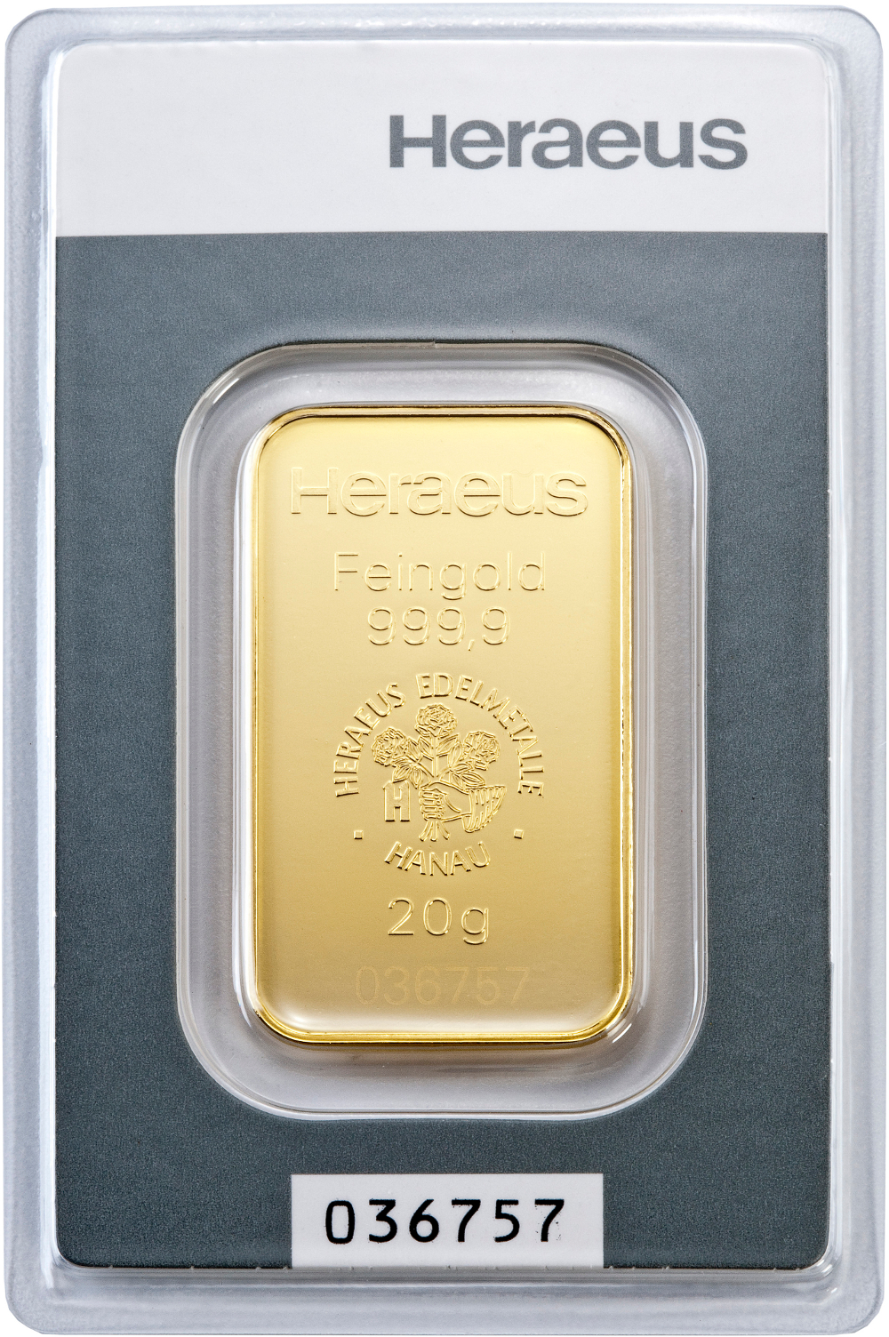 Heraeus 20g Gold Bars Bullionbypost From 163 663