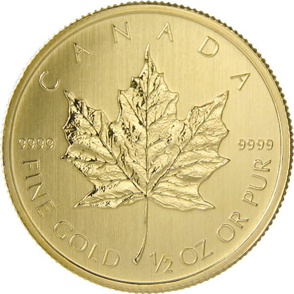 2014 Half Ounce Gold Canadian Maple Supplied By Bullion