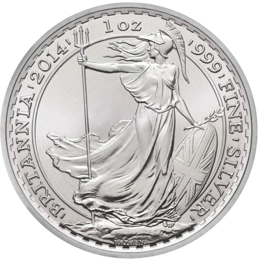 2014 1oz britannia silver coins
