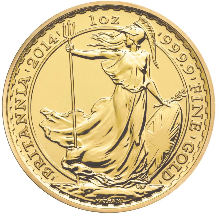 2014 Gold Britannia One Ounce Coin