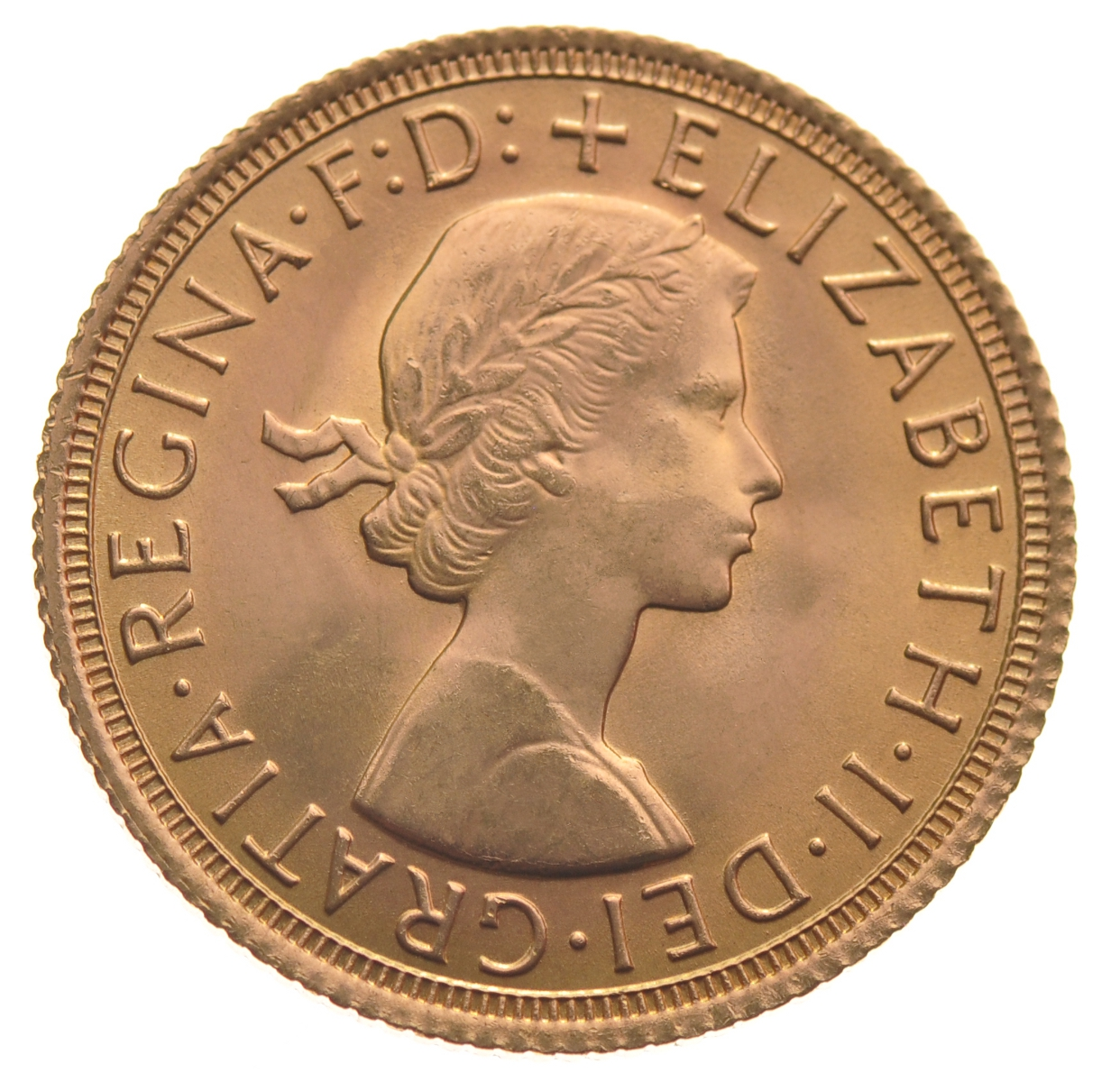 Sovereign - Elizabeth II, Young Head