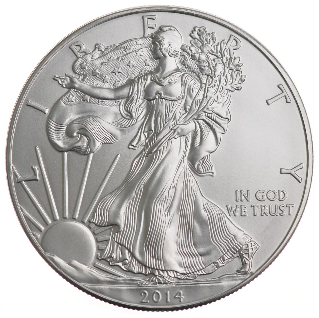 2014 American Silver Eagle Coins 1oz Bullionbypost