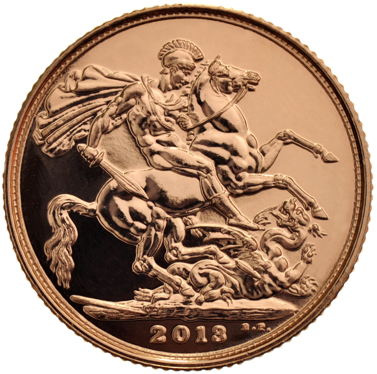 2013 Gold Sovereign - Elizabeth II Fourth Head