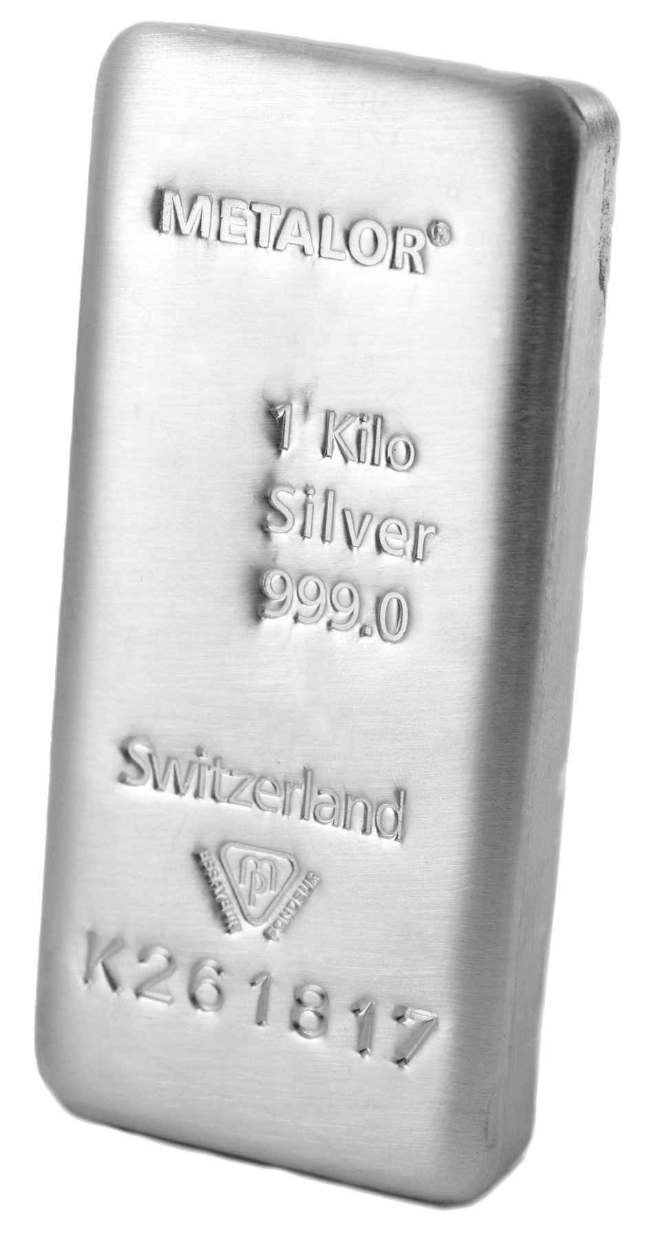 Metalor 1 Kilo Silver Bullion Bar