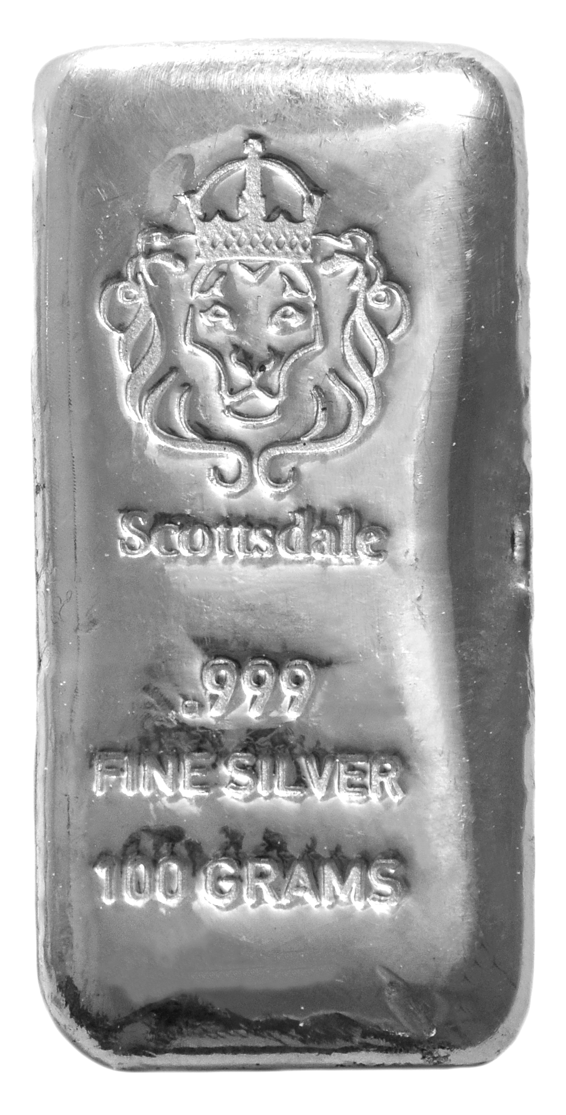 Buy Scottsdale 100g Silver Bar Bullionbypost 174 From 163 62 83