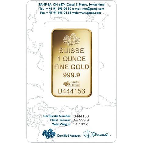 Pamp Suisse 1oz Gold Bar Bullionbypost From 163 823