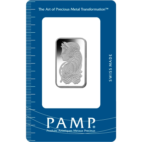 PAMP 20 Gram Platinum Bar Minted