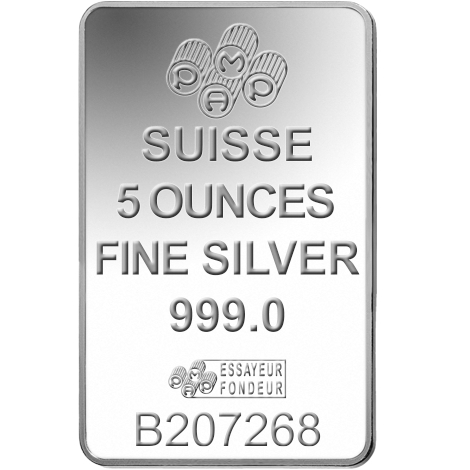 Pamp 5oz Silver Bar Minted 163 108 14