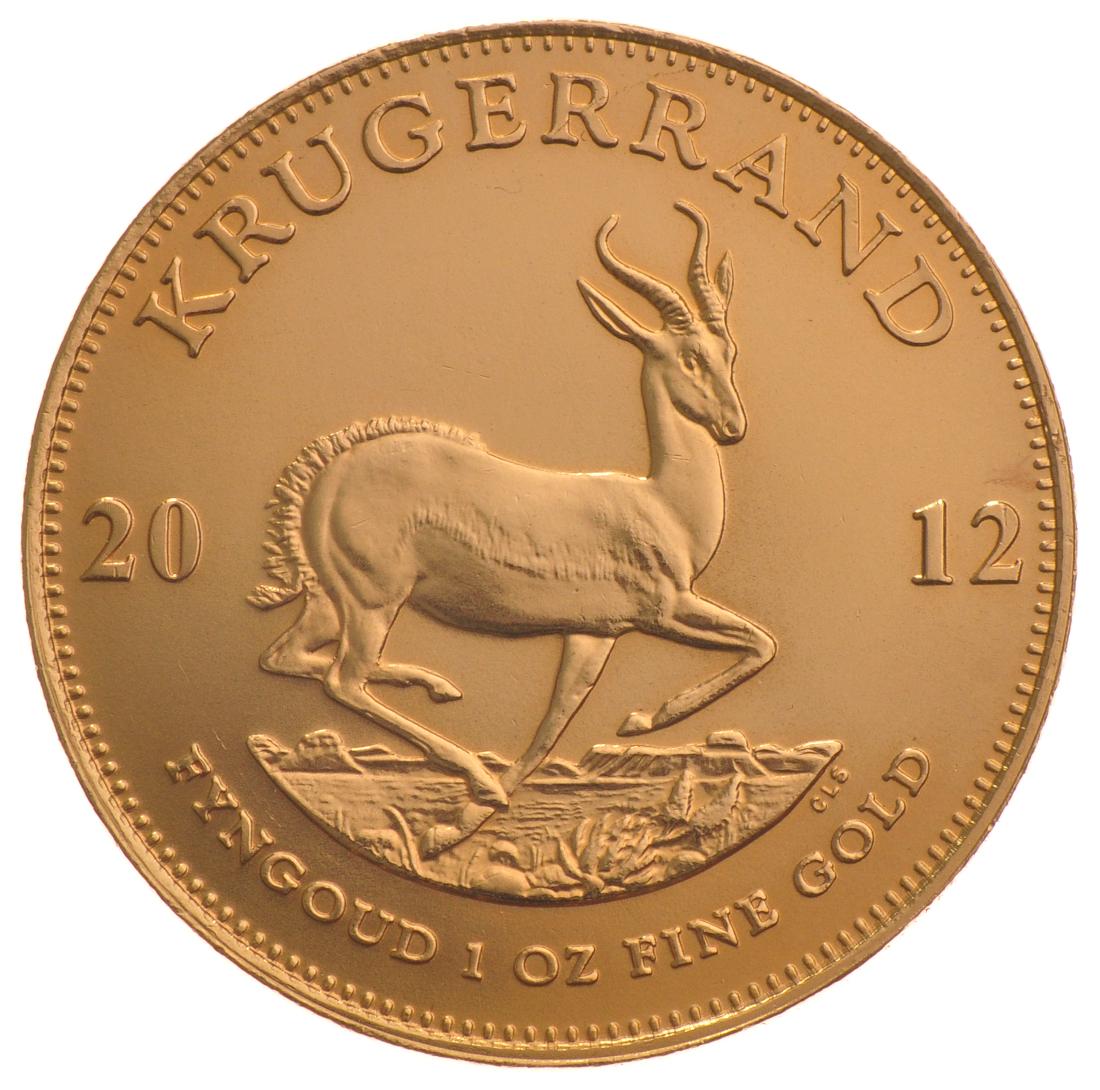 2012 1oz Gold Krugerrand 163 1 057