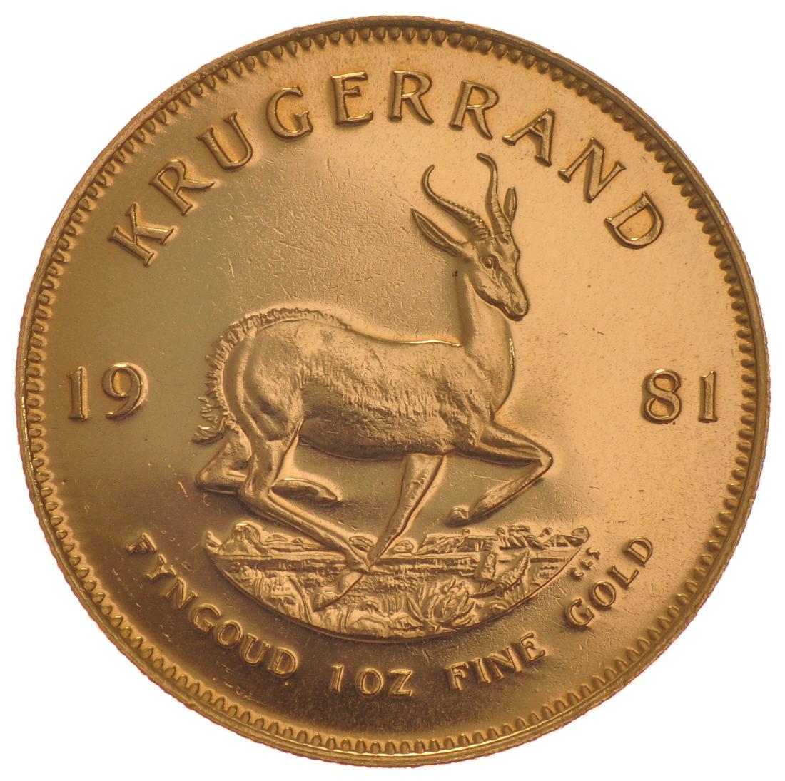 1981 1oz Gold Krugerrand 163 1 063