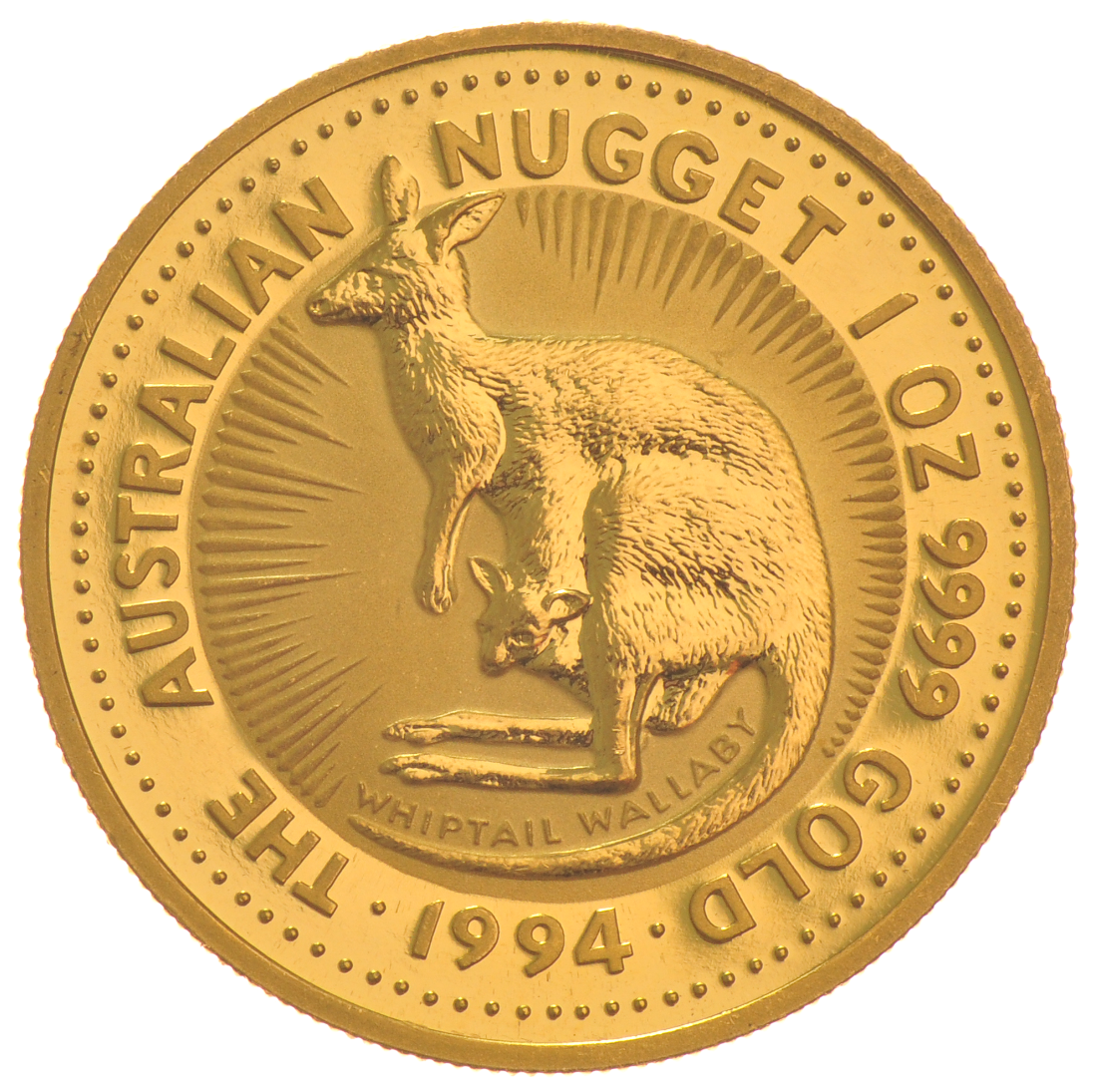Buy 1994 1oz Gold Australian Nugget Bullionbypost
