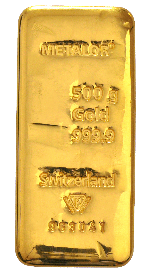 500g Metalor Gold Bars Bullionbypost From 163 12 502