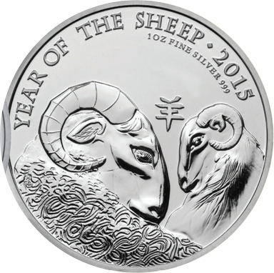 Royal Mint 1oz Year Of The Sheep Silver Coin
