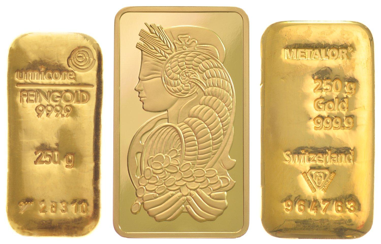 250g Gold Bars Best Value Bullionbypost From 163 7 965
