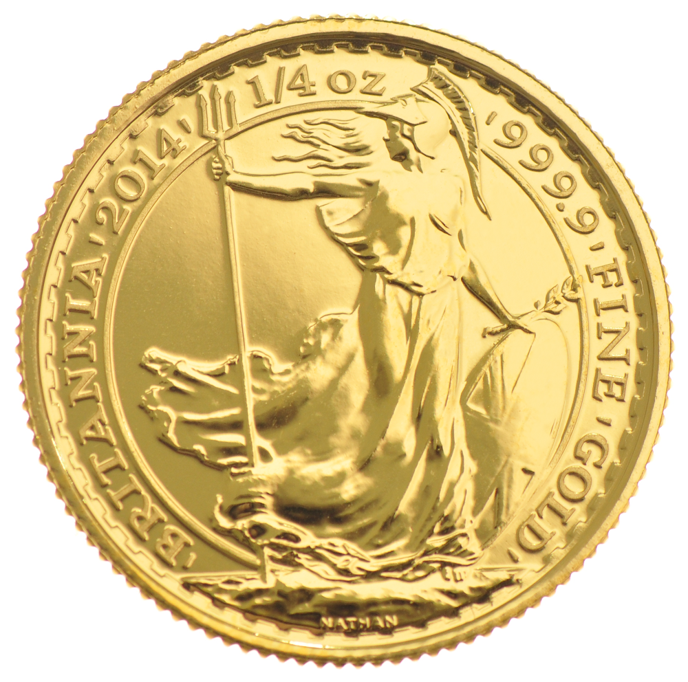 2014 Quarter Ounce Britannia Gold Coins 163 291