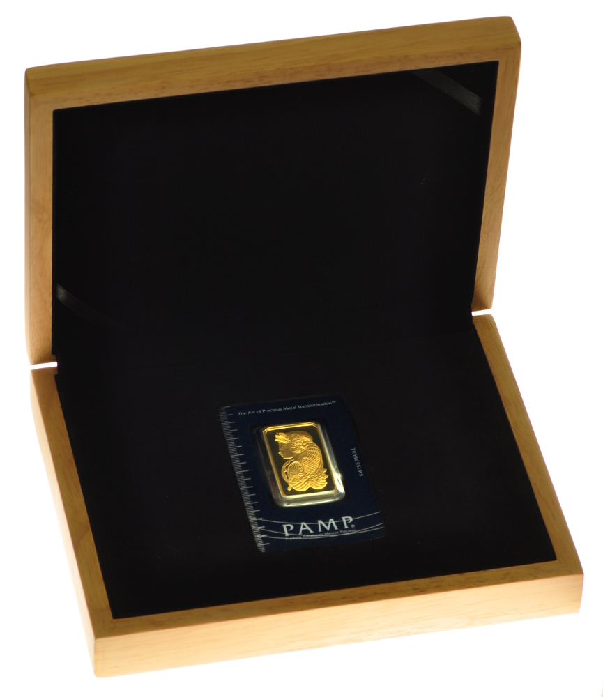 Pamp Suisse 1oz Gold Bar Gift Box Bullionbypost From 163 831