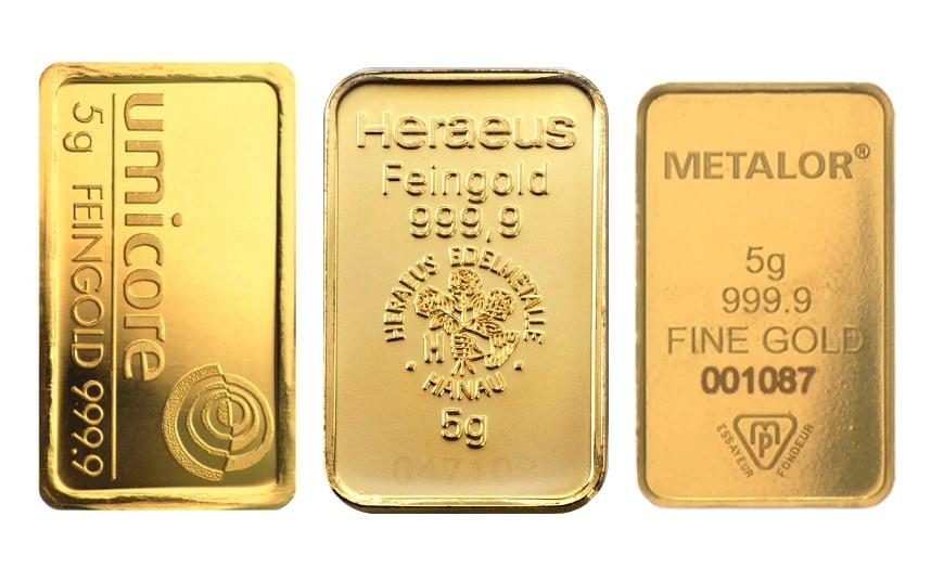 Buy 5g Gold Bar Best Value Bullionbypost From 163 173