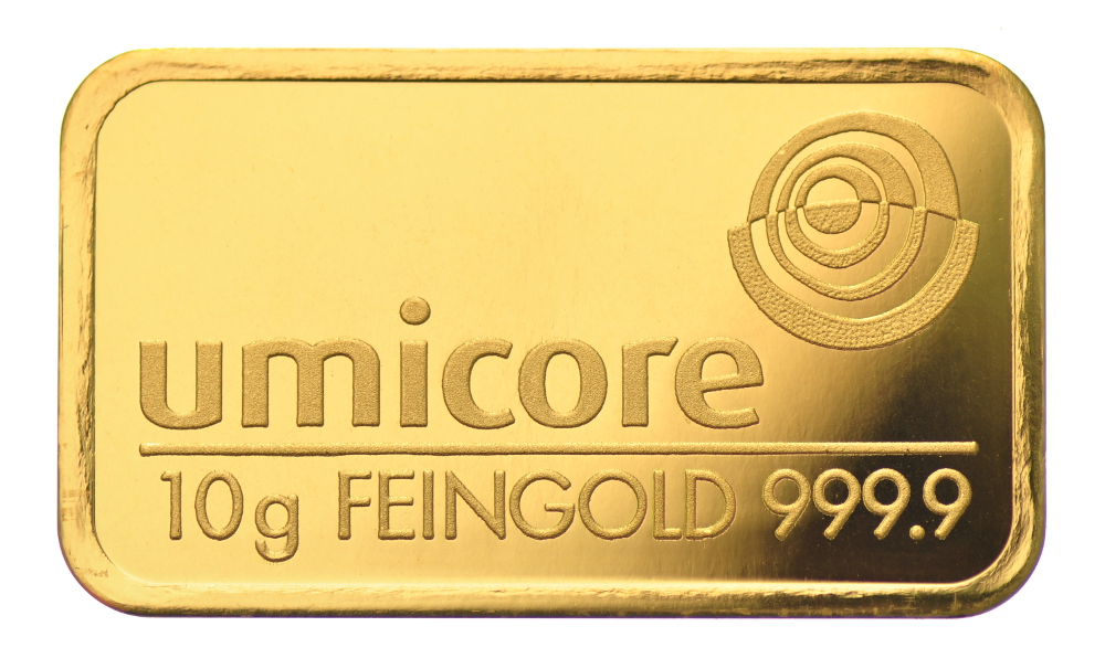 10g Umicore Gold Bars Bullionbypost From 163 348