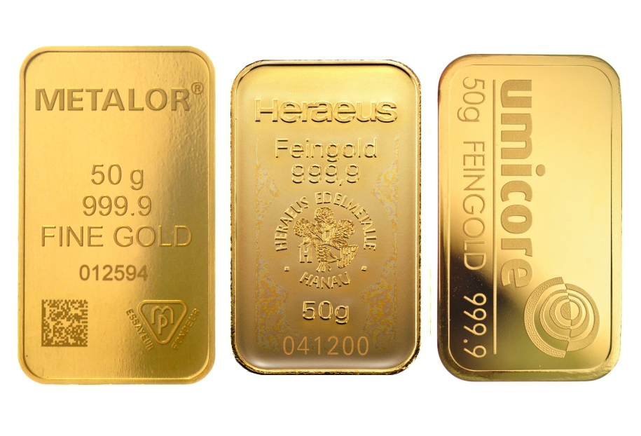 50g Gold Bars Best Value Bullionbypost From 163 1 277