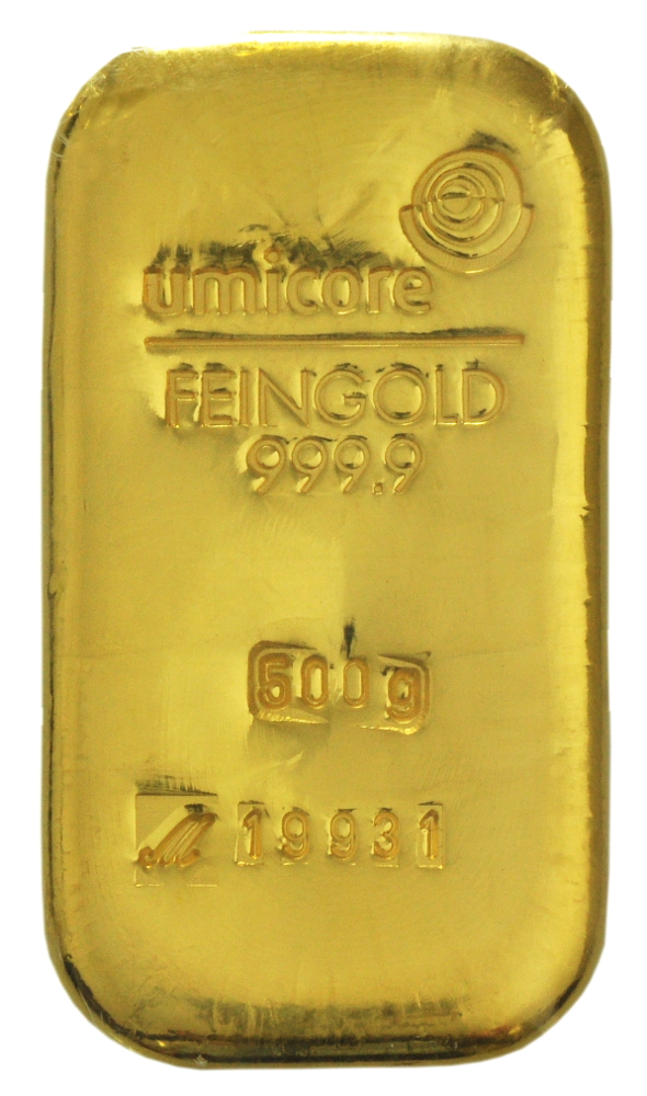500g Umicore Gold Bars Bullionbypost From 163 13 243