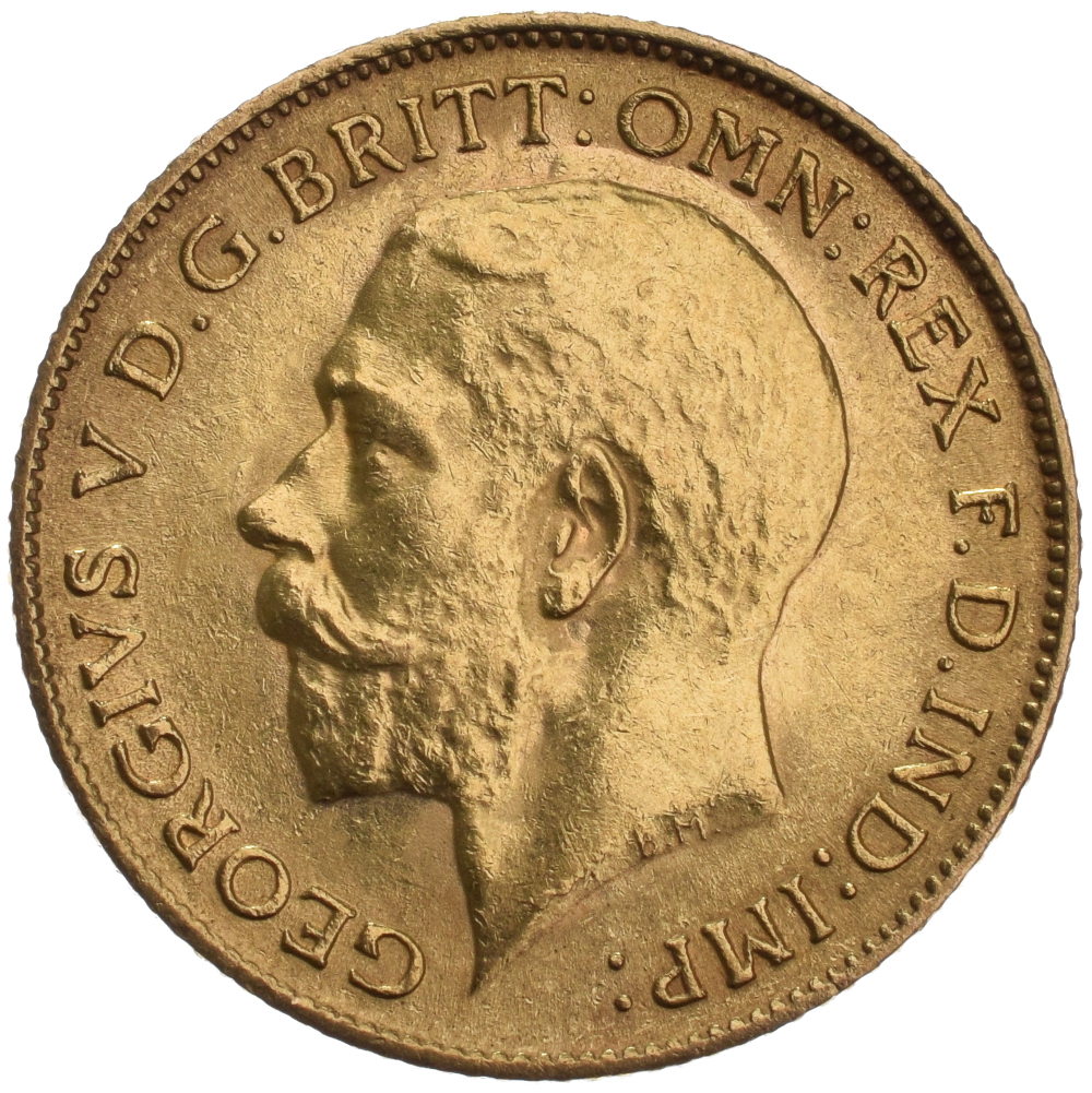 1925 Gold Half Sovereign King George V Sa 163 165