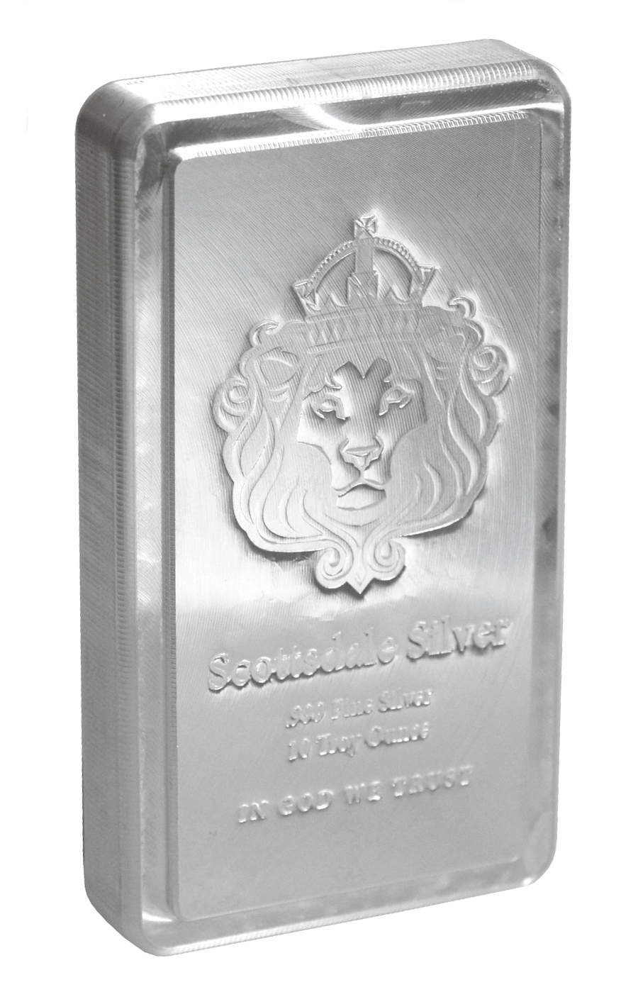 Buy Scottsdale 10oz Silver Stacker Bar Bullionbypost