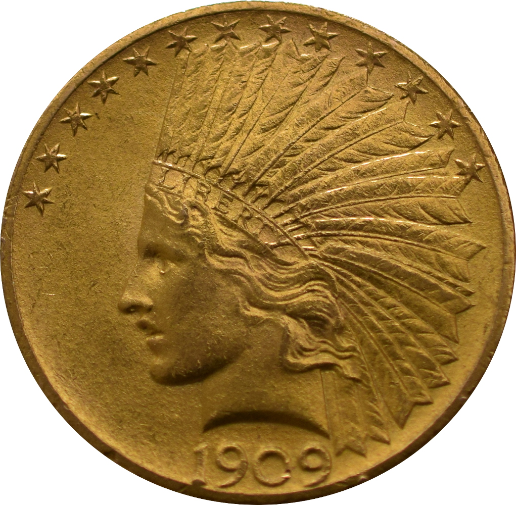 American Gold Eagle 10 Indian Head 163 909