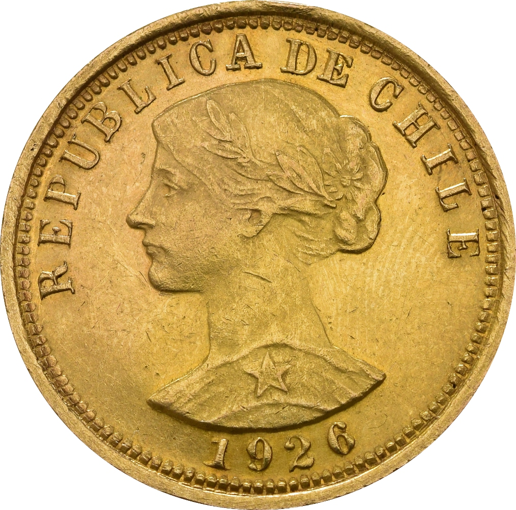 Chilean 100 Pesos Gold Coin 163 721
