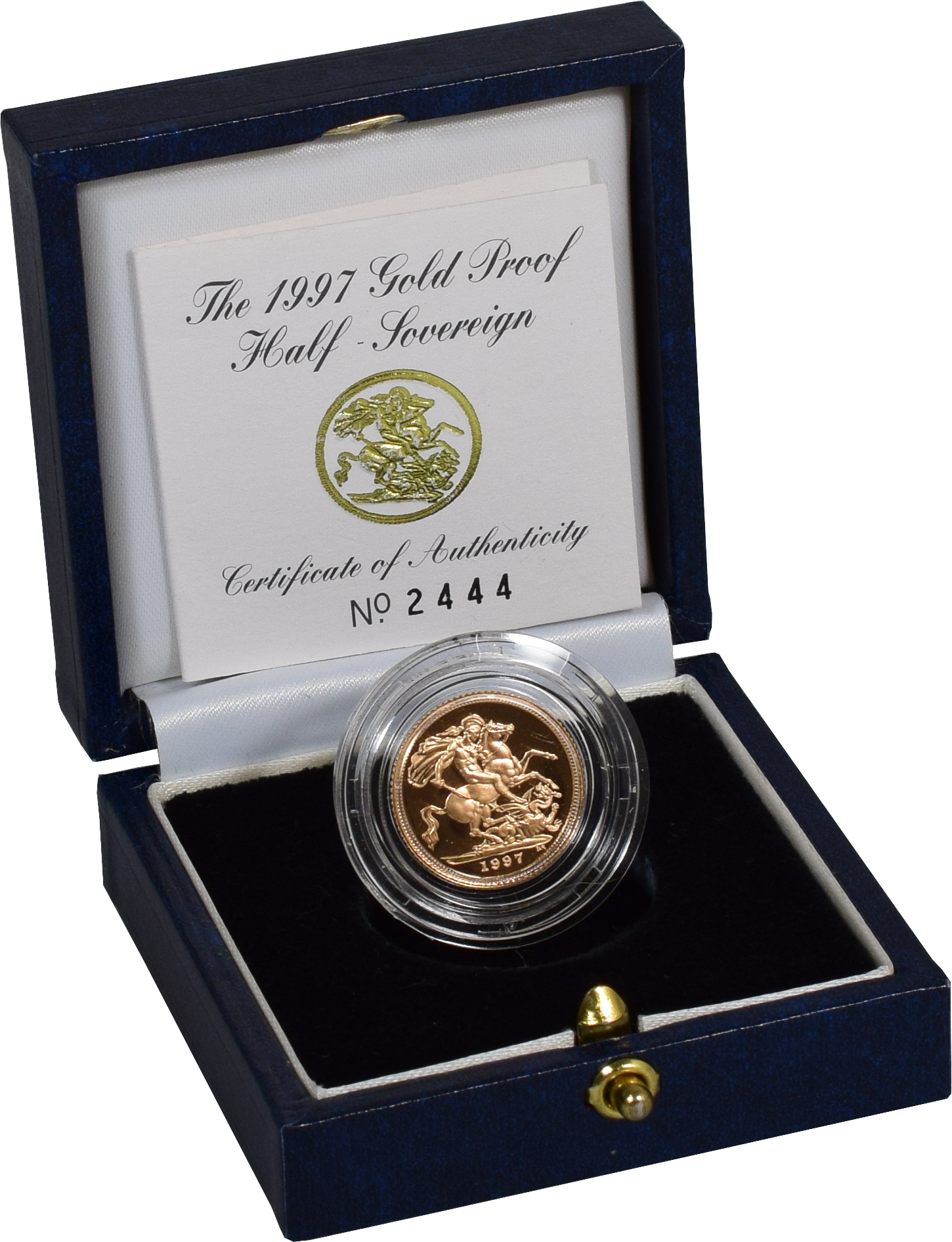 Gold Proof 1997 Half Sovereign Boxed