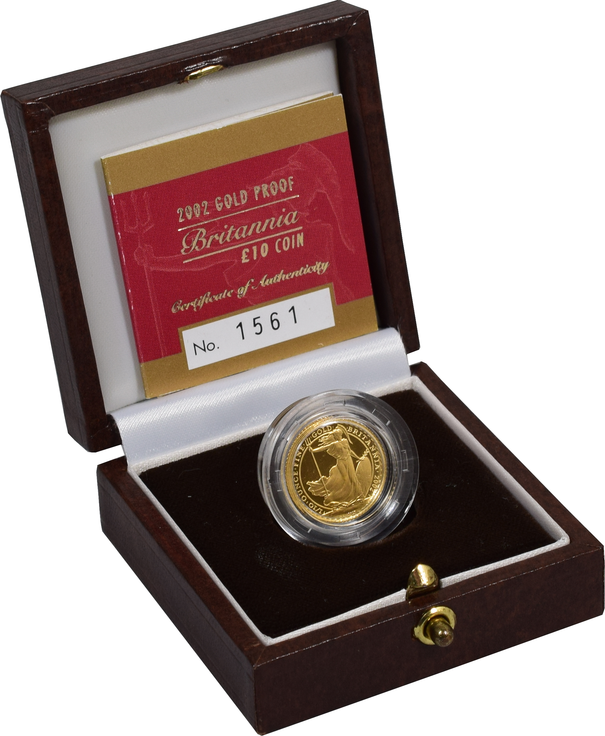 2002 Proof Britannia Tenth Ounce boxed with COA