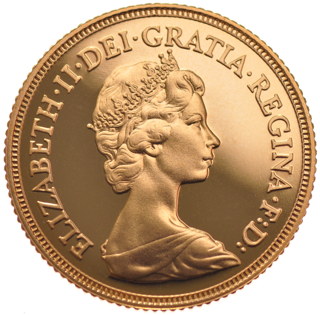 1981 Gold Sovereign Elizabeth Ii Decimal Head Proof No