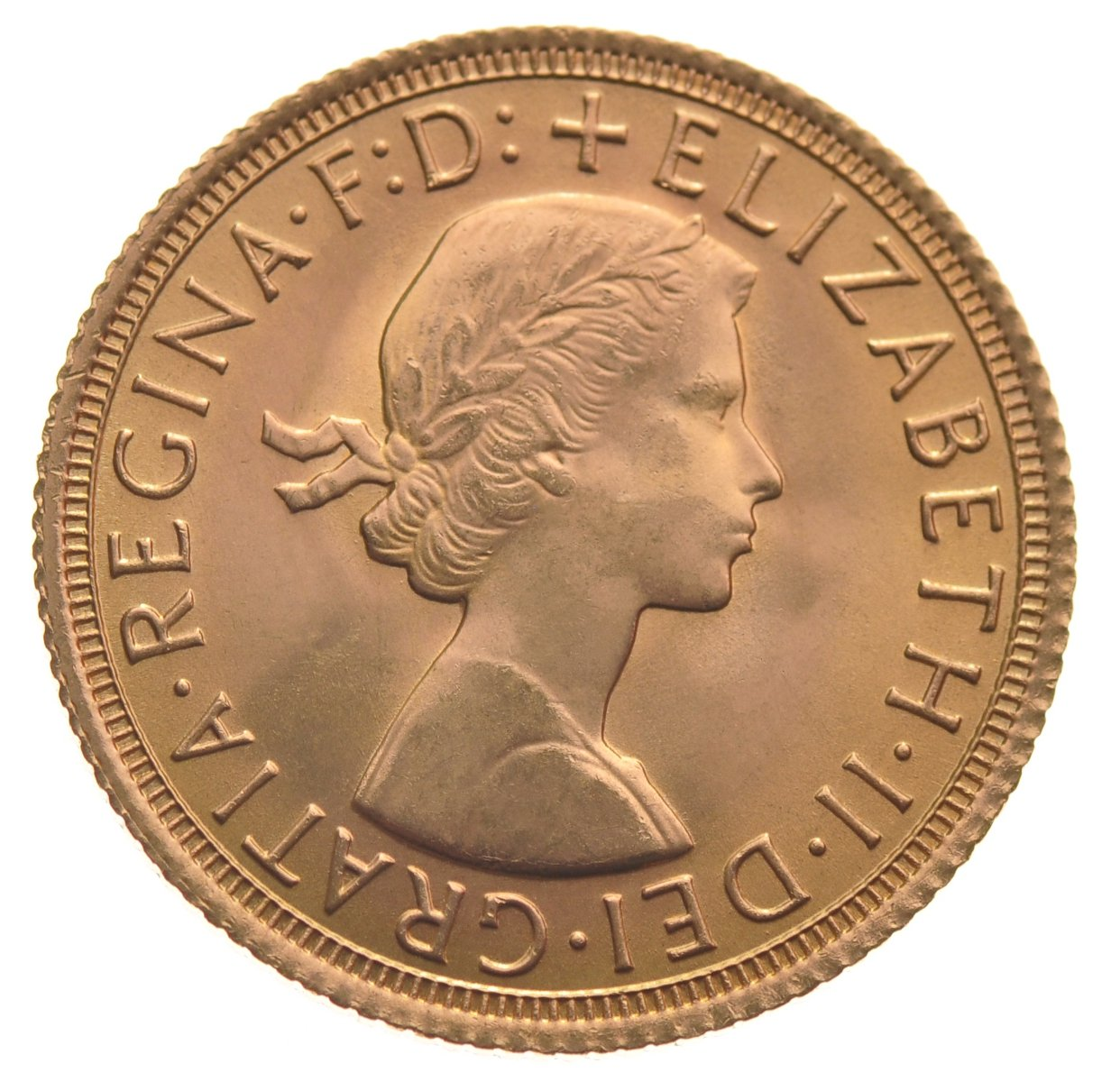 1964 Gold Sovereign Elizabeth Ii Young Head 163 286