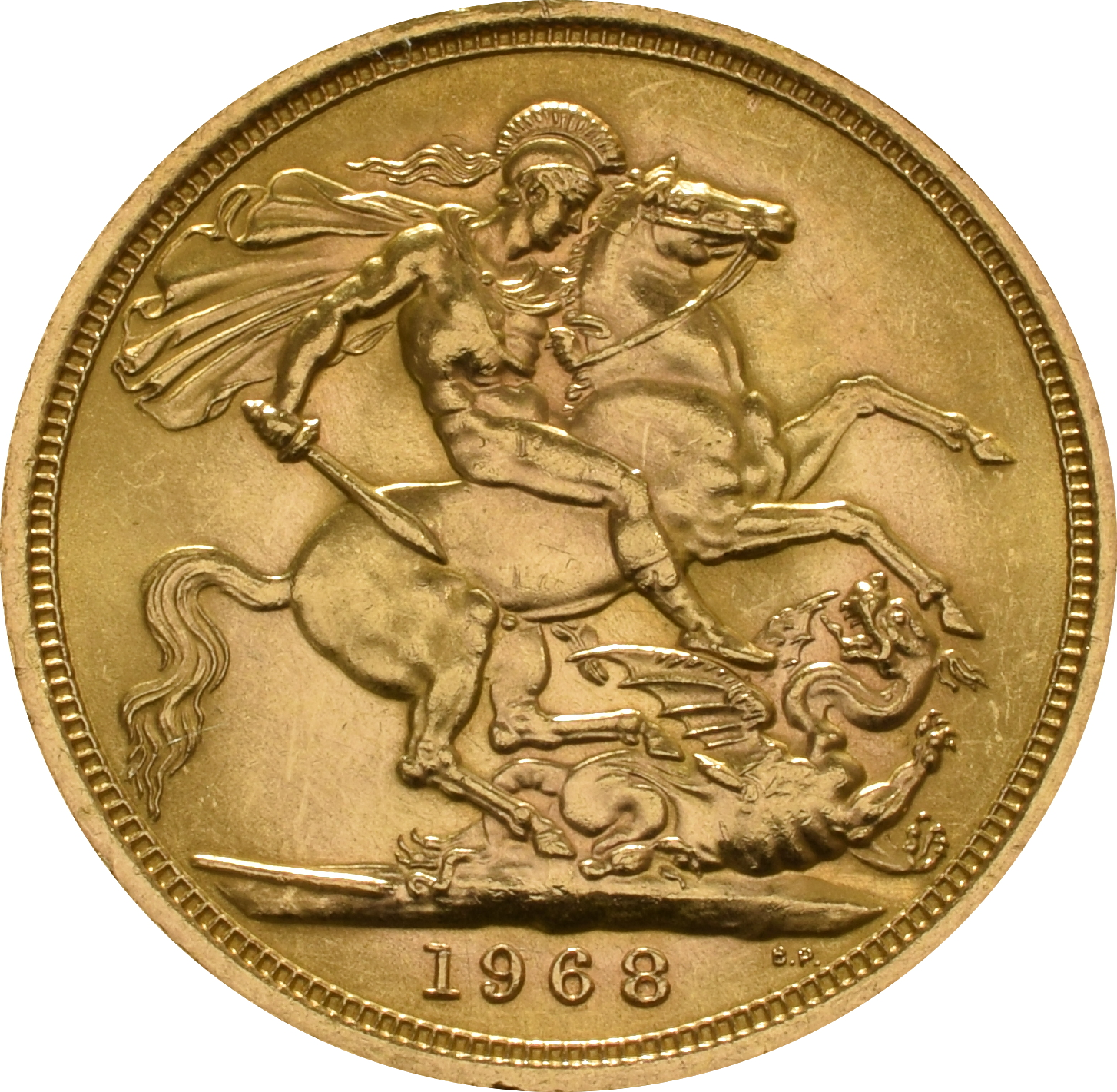 1968 Gold Sovereign Elizabeth Ii Young Head 163 402