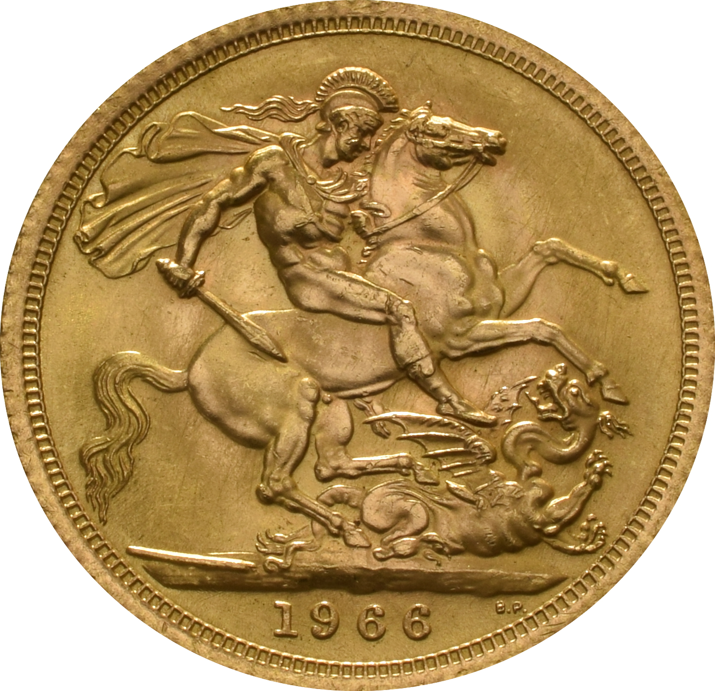 1966 Gold Sovereign Elizabeth Ii Young Head 163 286