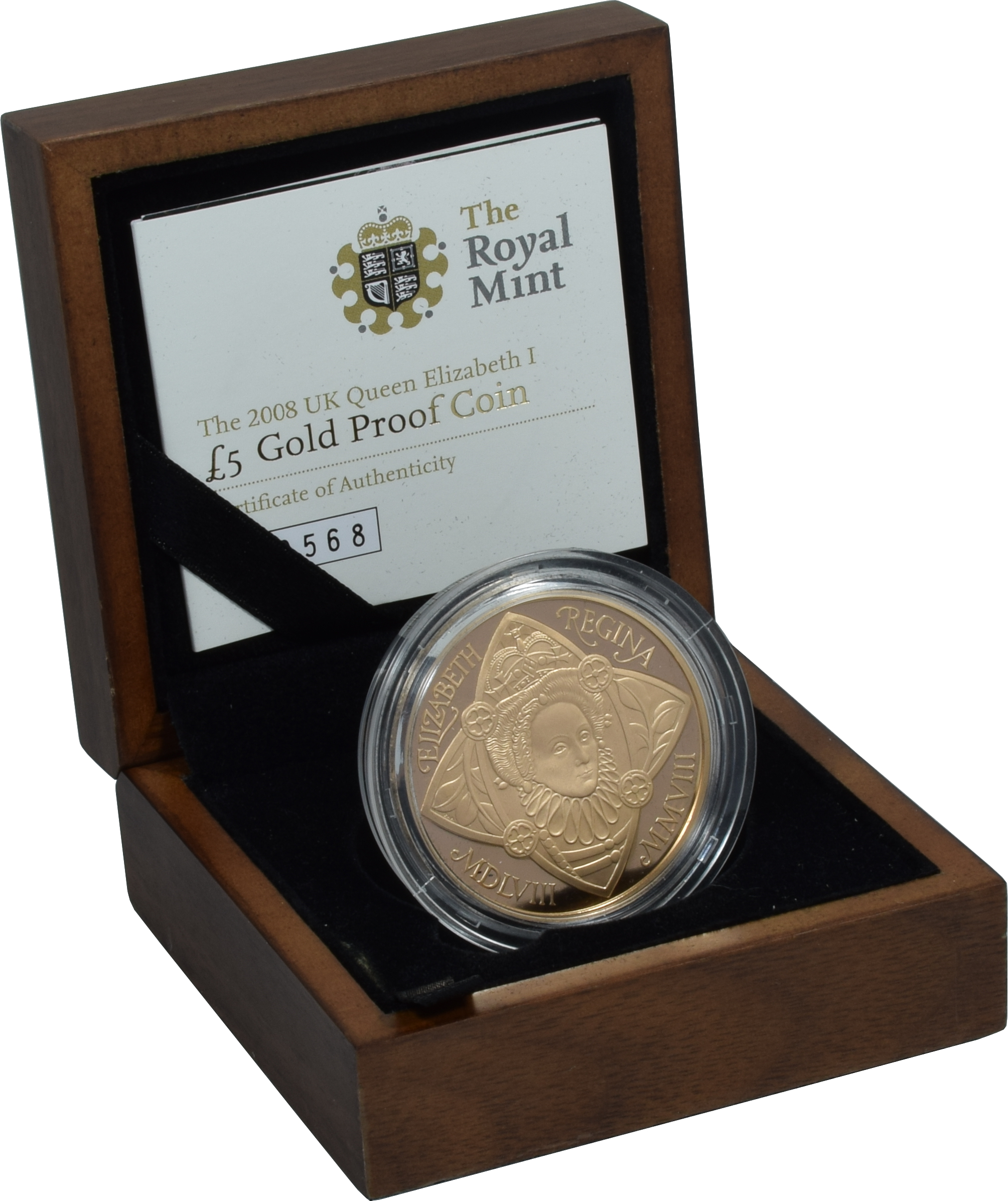 The Royal Birth 2015 United Kingdom 5 Silver Proof Coin: 2008 Queen Elizabeth Gold £5 Proof Boxed Coin