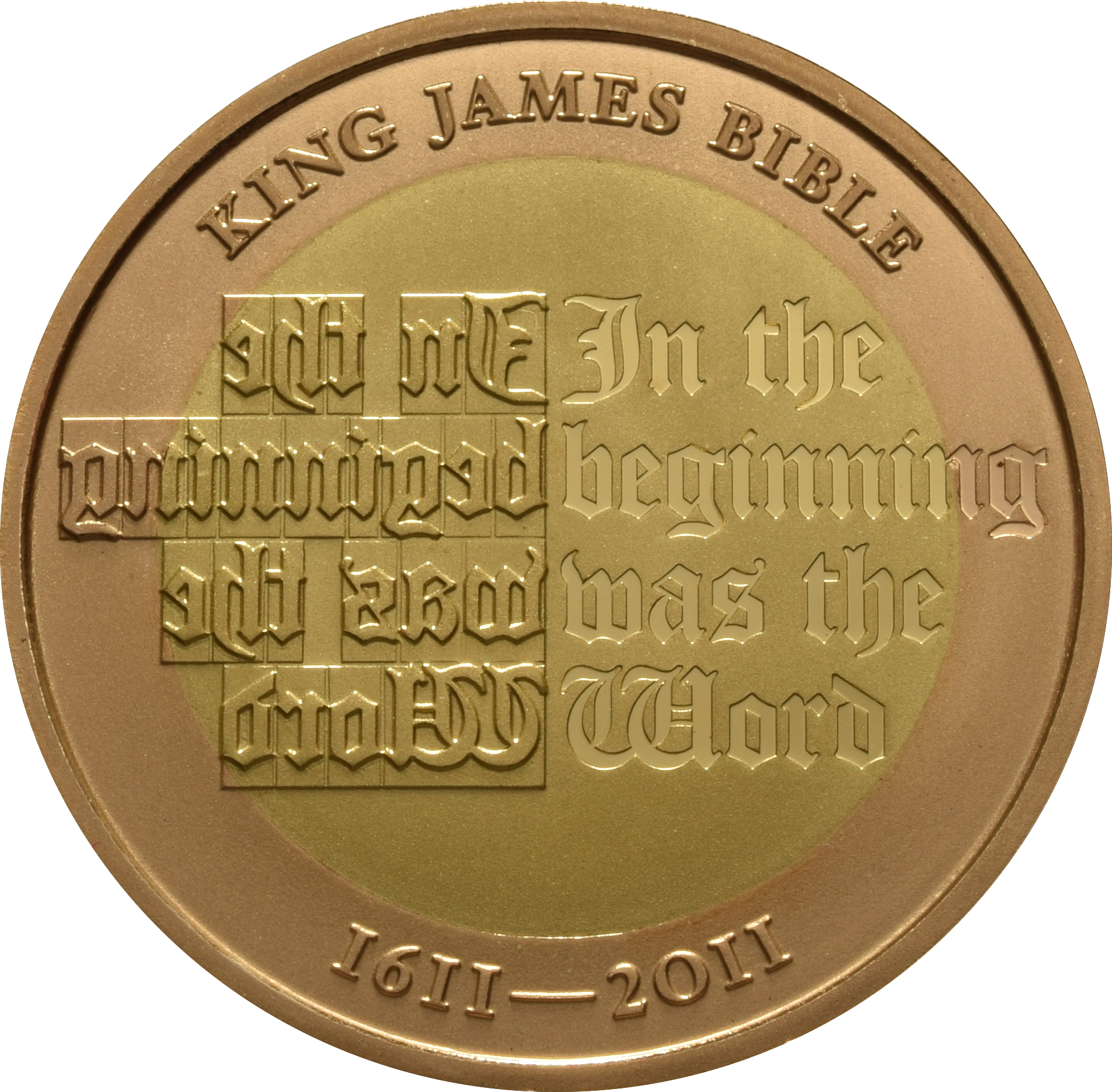 2011 Two Pound Proof Gold Coin King James Bible 163 909