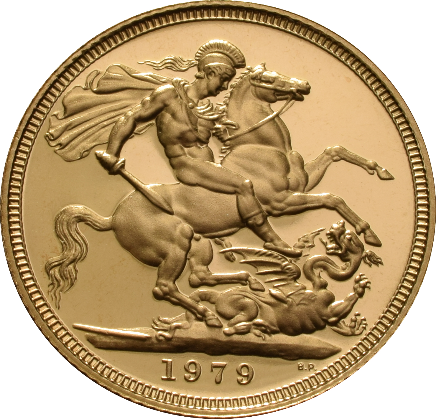 1979 Gold Sovereign - Elizabeth II Decimal head - Proof No box