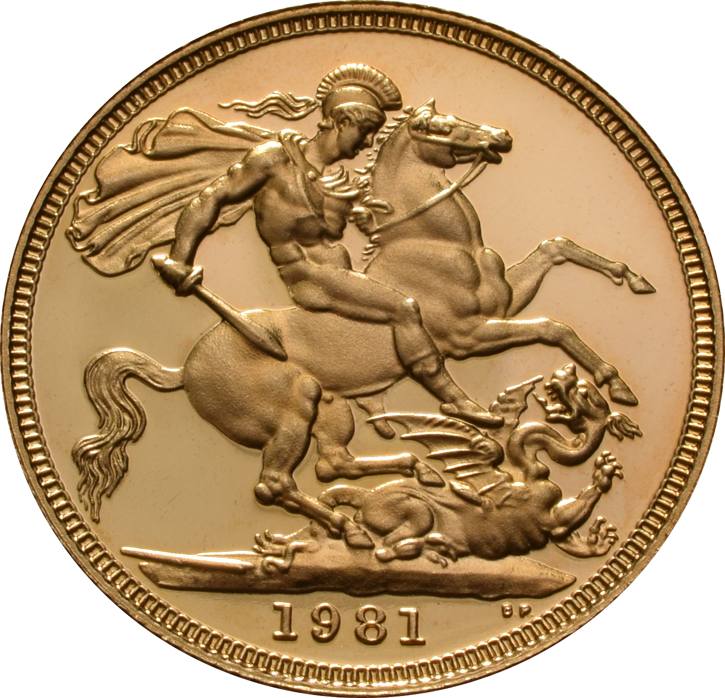 1981 Gold Sovereign - Elizabeth II Decimal Head Proof