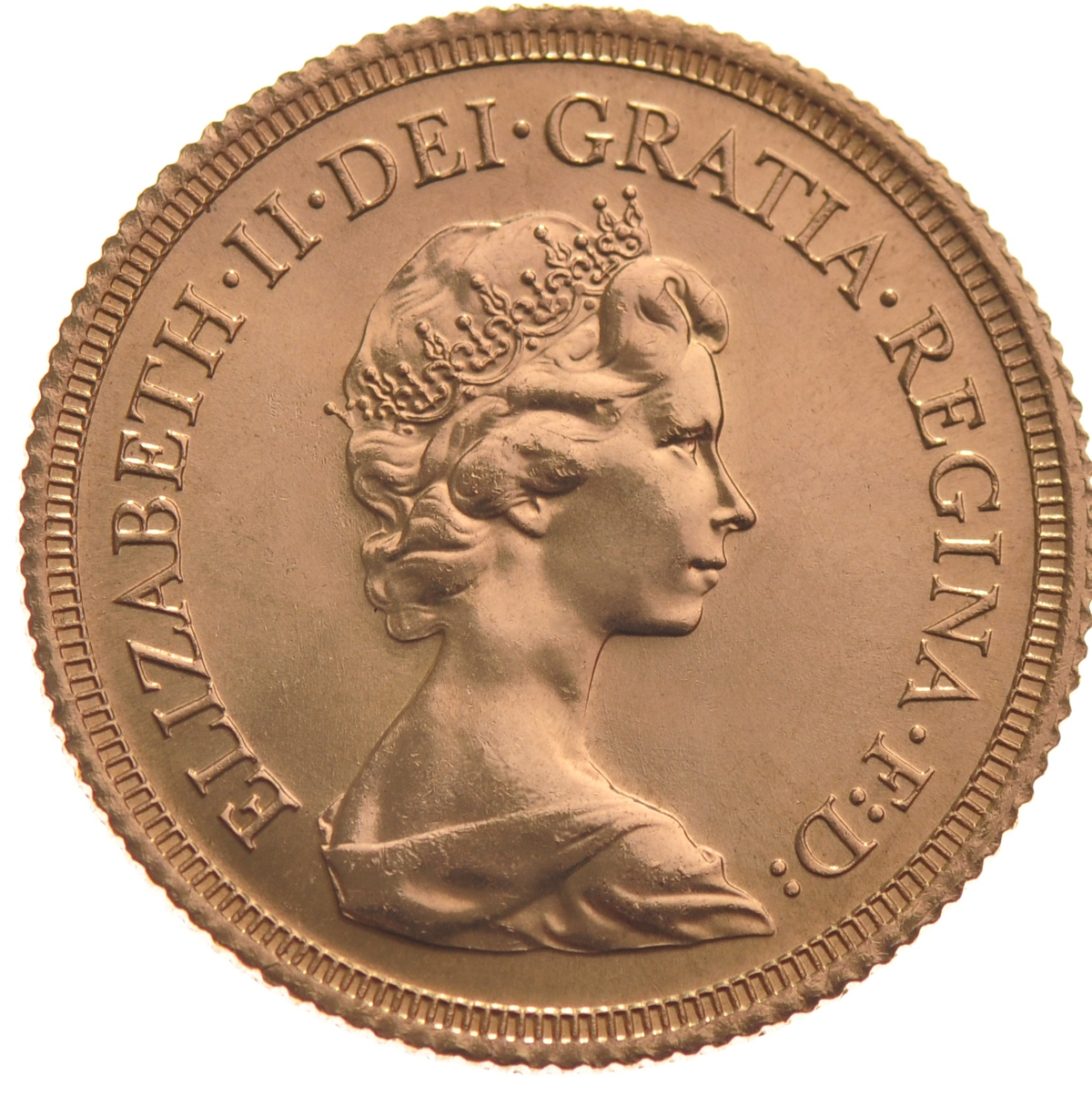 1981 Gold Sovereign Elizabeth Ii Decimal Portrait 163 266