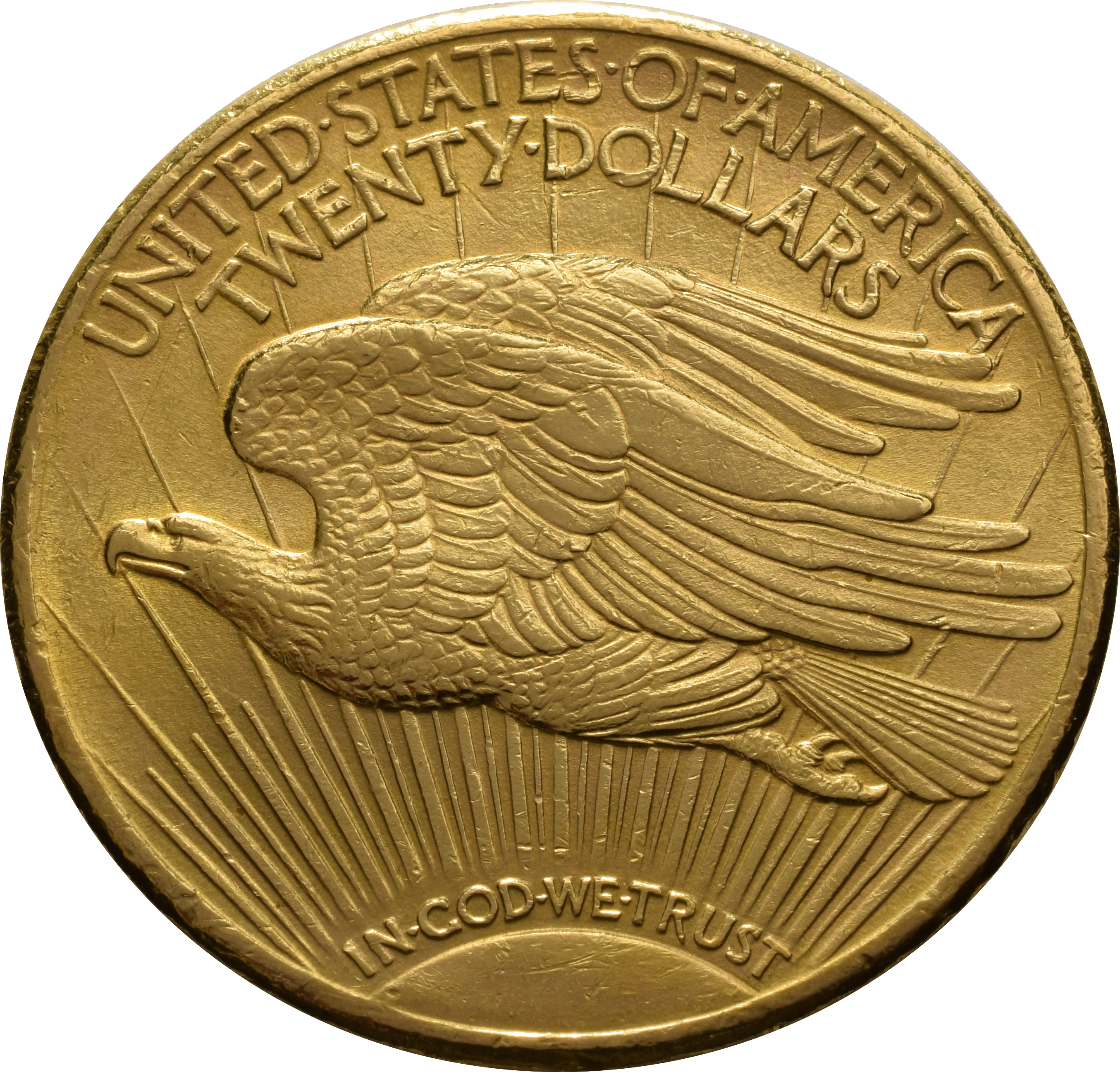 1929 20 Double Eagle St Gaudens Head Gold Coin